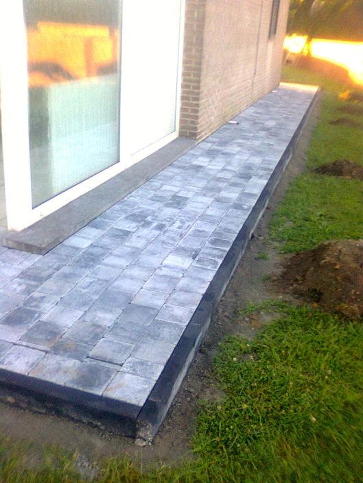 terrasse pavage pierre